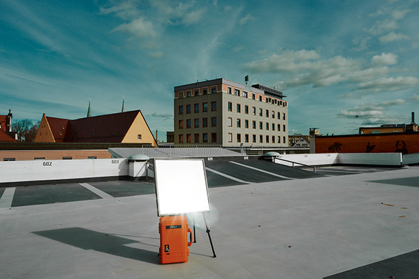 photographic eqipment of todays casual chillout on the roof